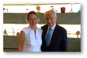 Corinne Evens and Shimon Peres, 2016