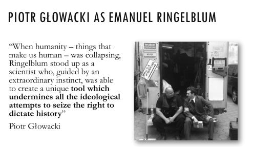 Piotr Glowacki as Emanuel Ringelblum